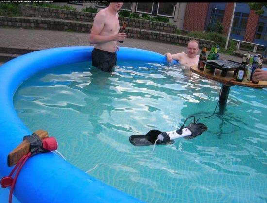 Grill'n'Pool für richtige Männer
