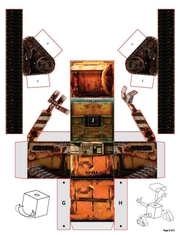 Модель робота из бумаги своими руками 42