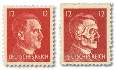 """""""Futsches Reich"""" Nostalgie Briefmarke"""