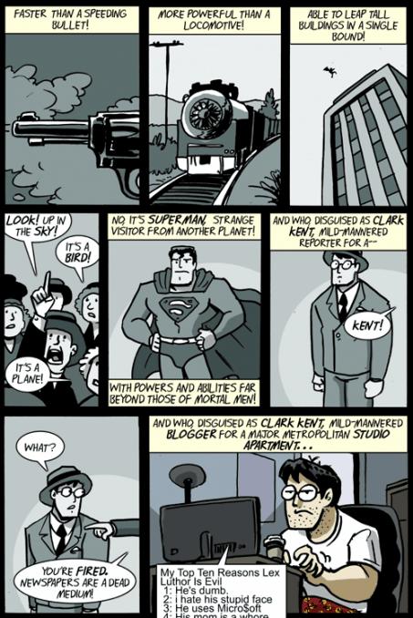 Superman ist ein Blogger
