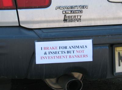 I brake for animals...