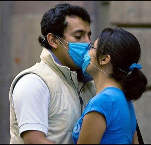 Küssen in Zeiten der Schweinegrippe