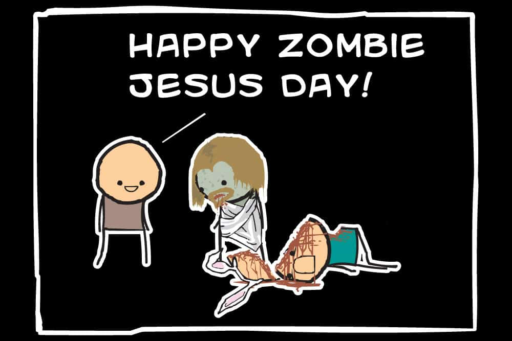 happy zombie jesus day dravens tales from the crypt