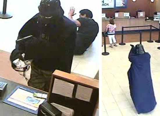 Darth Vader raubt eine Bank aus