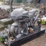 The grave stone for motorcyclists
