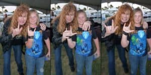 At school with Megadeth
