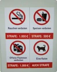 Nicht nur Katze verboten