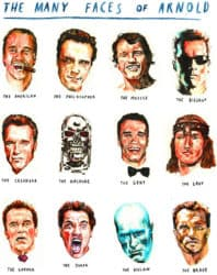 The many faces of Arnold Schwarzenegger