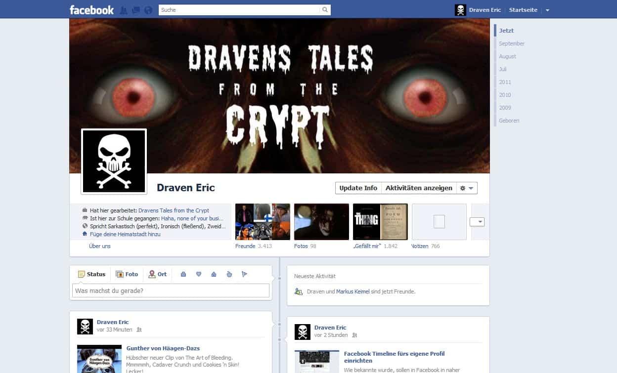 Dravens Facebook Timeline