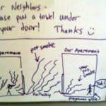 Dear neighbor, tight from your door