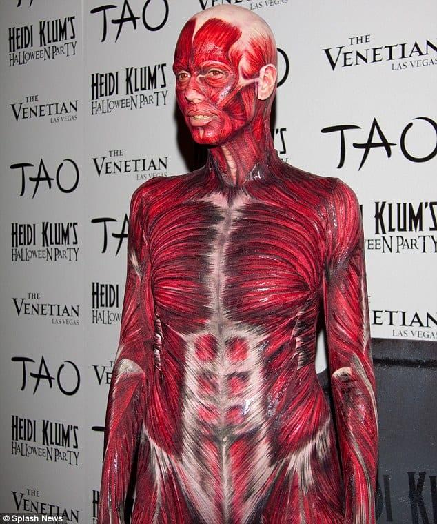 Heidi Klums Halloween-Outfit