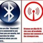 Was Frauen mit WLAN und Männer mit Bluetooth gemein haben