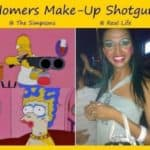 Homer Simpson Shotgun Make-up na vida real