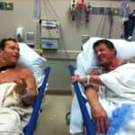 Schwarzenegger and Stallone hospitalized