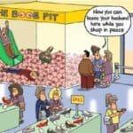 Vrouwen kunnen eindelijk winkelen in vrede, ondanks mannelijk gezelschap