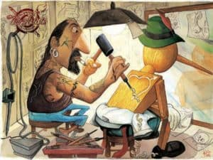 Pinocchio lässt sich tätowieren