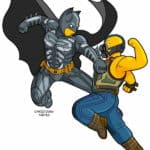 Dark Knight nousee simpsonized