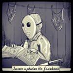 Jason updates his Facebook