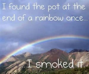 I found the pot at the end of a rainbow...
