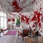 Blutige Wandtapeten