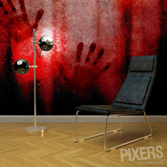 bloody wall wallpaper dravens tales from the crypt. Black Bedroom Furniture Sets. Home Design Ideas