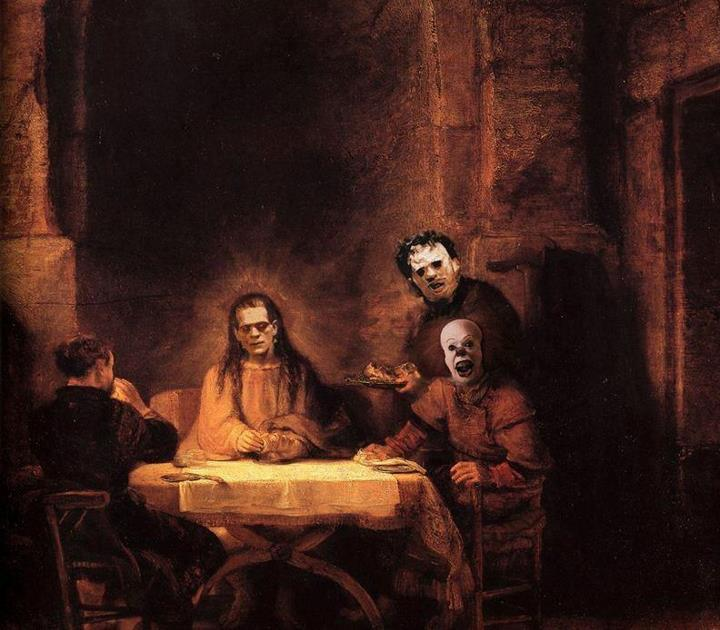 Das Abendmahl an Halloween - The Supper at Halloween