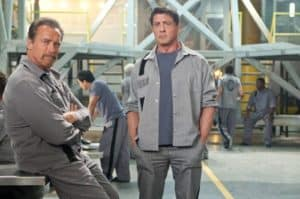 "Sly and Arnie in the first official ""The Tomb"" picture"