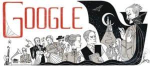 Google Doodle zum Geburtstag von Bram Stoker