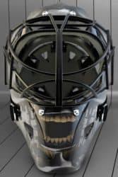 Terminator, Tron und Transformers Eishockey Helme