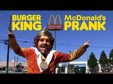 Burger King's Schabernack in McDonalds