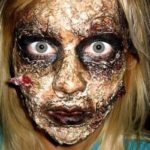 Zombie Gezicht van Halloween make-up Tutorial
