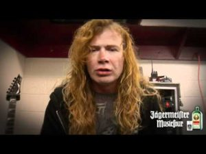 Backstage Dave Mustaine on Tour