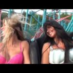Hot Babes Test Bras on a Roller Coaster – BH Test in der Achterbahn