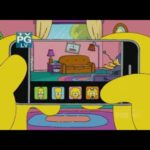 A mordaça Couch Simpsons com o iPhone