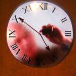 tidsvisning av människan i klockan