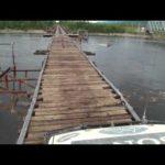Dangerous bridge in Siberia