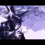 Gluck tuvo con la moto de nieve en el Monte