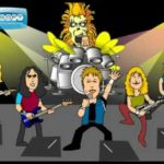 Iron Maiden tecknad – The Number of the Beast