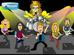 Iron Maiden Cartoon - The Number Of The Beast