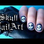 skull nail art tutorial or how to decorates fingernail with prejudice needles