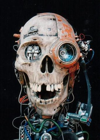 Armored Cyborg Skull