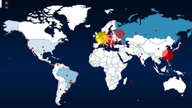 Honeymap - Weltkarte zeigt Cyberattacken in Echtzeit