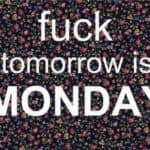 Knulle! I morgen er det mandag!