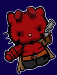 HellBoy gatito- Hello Kitty