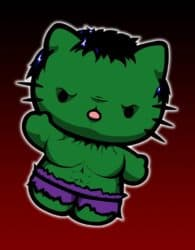 Hulk gatito - Hello Kitty