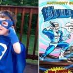 """Marvel creato """"L'orecchio blu"""" um hörgeschädigten Jungen zu helfen"""