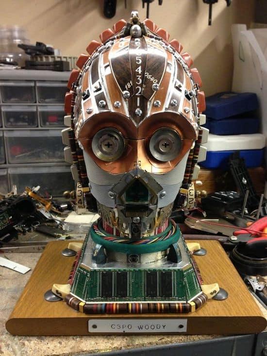 C3PO aus alten Rechnerteilen
