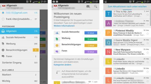 Gmail-Update auf Version 4.5: Neuerungen und Download
