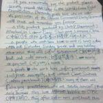 Notiz aus dem Arbeitslager: Chinese versteckt Brief in Verpackungen