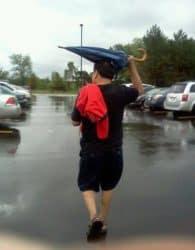 Wie man einen Schirm richtig nutzt